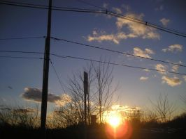 sunsets and powerlines by someoneARTSY