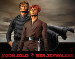 Jacen Solo and Ben Skywalker by AG88