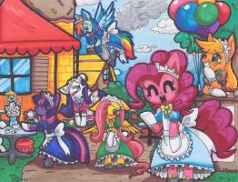 Pony Maid Cafe by FENNEKlNS