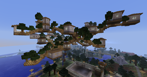 Minecraft Server Manasia - Hover Town 4 by Denis-Manase