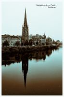 Reflecting in Perth, Scotland by sags
