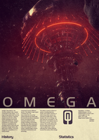 Mass Effect Omega Vintage Poster by Titch-IX