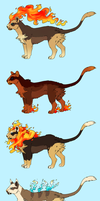 Pyroar Variants by Susiron