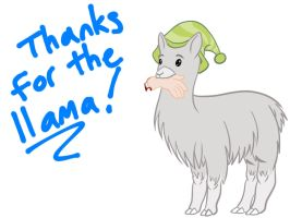 Carl Llama Thanks Jpeg by Pixel-Penguin-dA