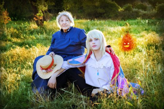 Howl and Sophie Cosplay, Howl's Moving Castle by hakucosplay