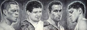 Team Cesar Gracie sketch cards, Diaz bros etc by therealbradu