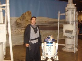 My Brother with R2-D2 by BennytheBeast