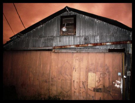 A dilapidated building by melatonin