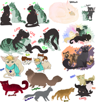 OP Kitties doodles by Nire-chan