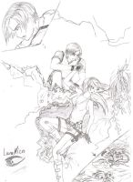 Lara Croft and Leon S. Kennedy by LaraNico