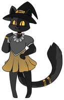 [OPEN] Witch Cat Adoptable by MiqotesosAdopts