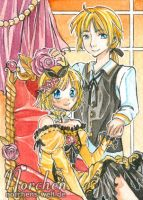 ACEO No113 - Devil Twins [Vocaloid] by oONorchenOo