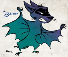 Bat-rat and Robird poster 1 by juanbauty