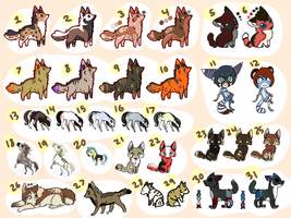 Large Adoptable Sheet.OPEN. by HappyFoxChelsy
