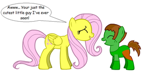 Fluttershy and Percy by KaytlinTheFox