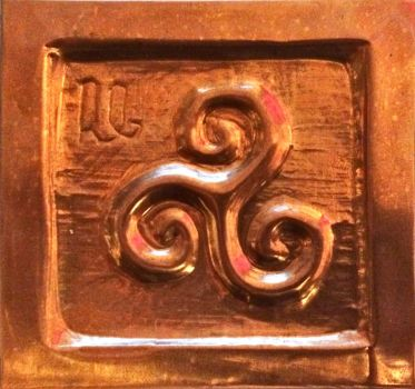 Celtic symbol (embossed copper) by wortmore