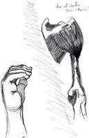 Sketch of Arm Bone and Muscle Structure and a Hand by Jokermagic