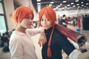 Cosplay - Gintama - Kamui Twins by roamest