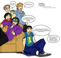 U2 and 1 of Edge's clones by eightbreeze