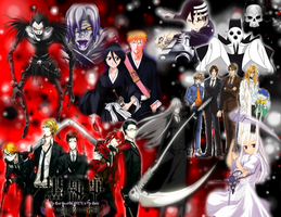 Anime Shinigami Collage by tabbycat1212