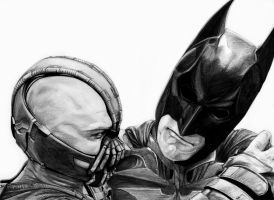 Batman vs Bane by Aquila--Audax