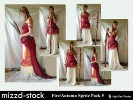 Fire+Autumn Sprite Pack 5 by mizzd-stock