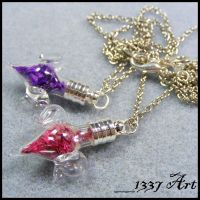 Love Potion Necklaces by 1337-Art