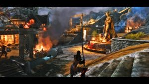 Whiterun in Flames - Stormcloak's Ark by Iazcutler