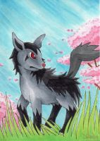 Mightyena ACEO by SabrieI