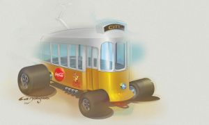 Hot Rod tram by candyrod