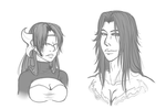 Azrael and Danawa - Bust Commissions by Mama-Moose