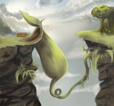 Pitcher Plant Myth by alicamateus