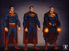 Superman evolution by KingLeonUniverse