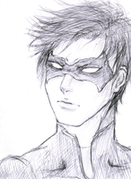 wip nightwing sketch by Louie-chan