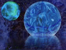 Water Planets by kaolincash