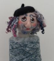 The needle felted artist by Gofton