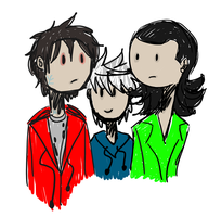 R, Jack And Loki by InvisibleCorpseGirl