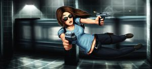 Female Max Payne by Deniszizen