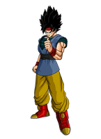 Mystic Goku Jr by SpongeBoss