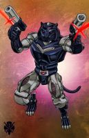 Beast Wars Ravage by Dan-the-artguy