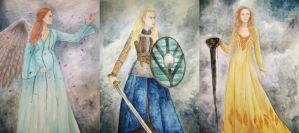 The gods will always smile on brave women by Naivara