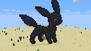 Umbreon Pixel Art by BecomeOneWithHim