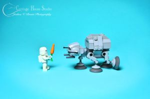 Lego Stormtroopers - Taming a baby AT-AT by Jbressi