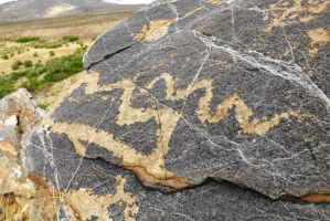 Petroglyphs #12 Mountains and Clouds? by SharPhotography