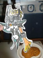Midna paper child (and a plate of cookies) by MechaKnucklesA3
