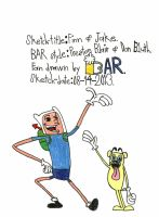 Finn and Jake: Golden Toons by BARproductions