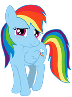 Rainbow Dash drawing Photoshopped by tehAgg