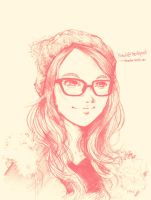 Pink Beanie Glasses by bbiru