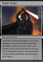 SW-Cards: Darth Vader by DarthVaderXSnips