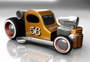 Cartoon Hot Rod by HaryHerbert